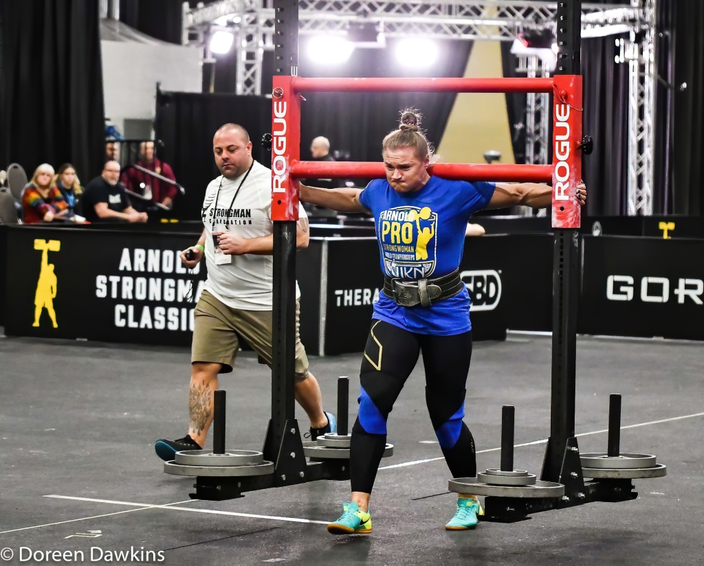 Pro Strongwoman second consecutive winner Olga Liashchuk (the yoke) at the Arnold Sports Festival 2020