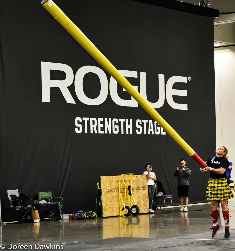 Caber throw, Scottish Highland Games at the Arnold Sports Festival 2020