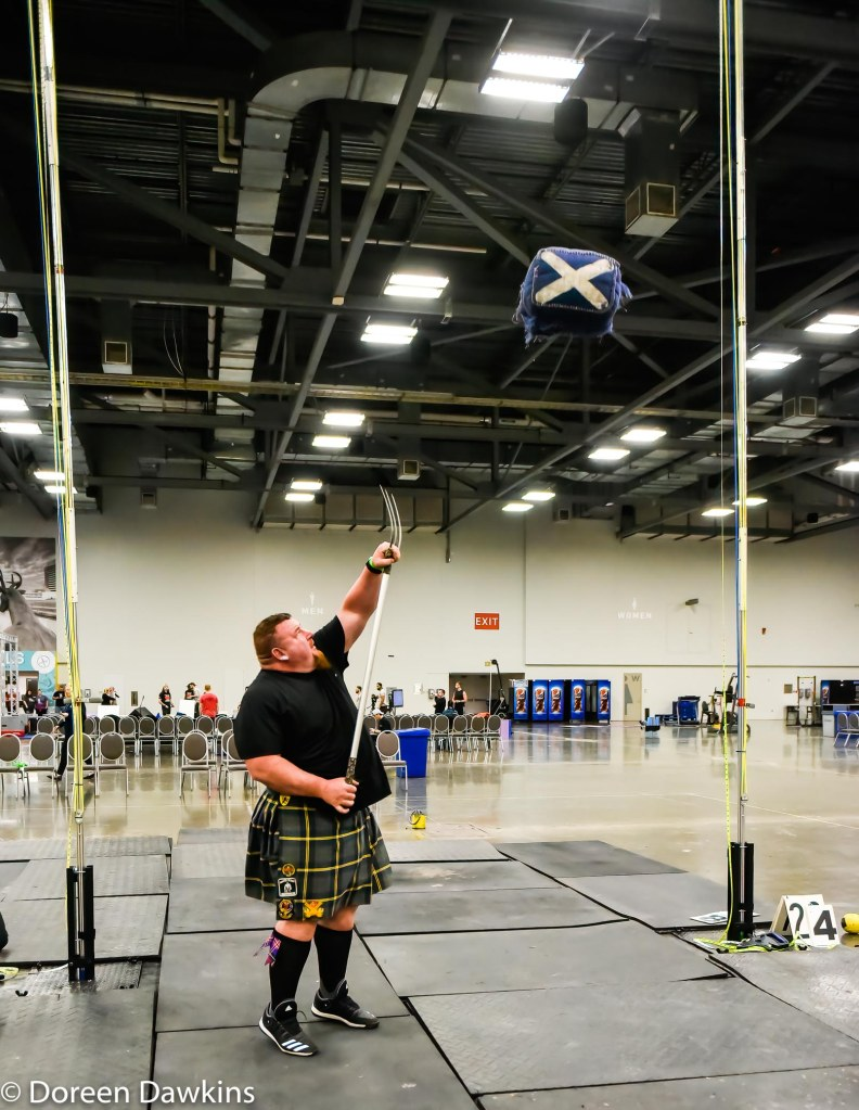Sheaf toss, Scottish Highland Games at the Arnold Sports Festival 2020
