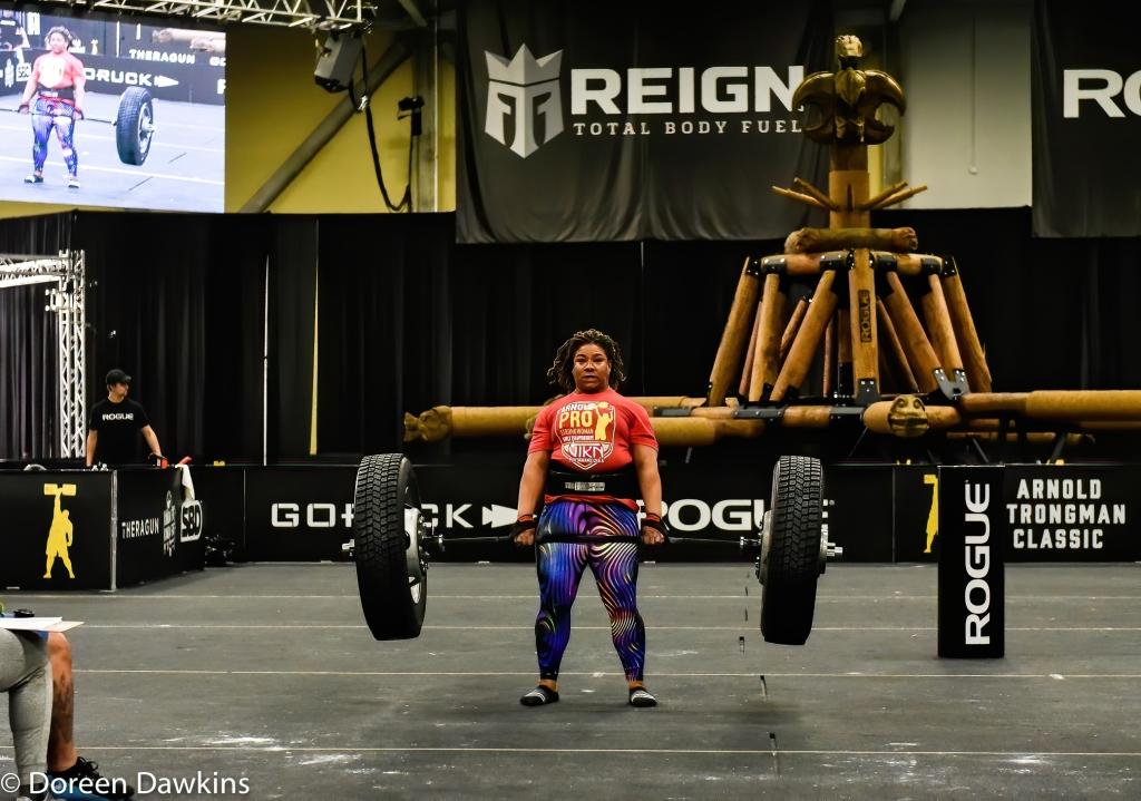 Pro Strongwoman Andrea Thompson Tire Deadlift, Arnold Sports Festival 2020