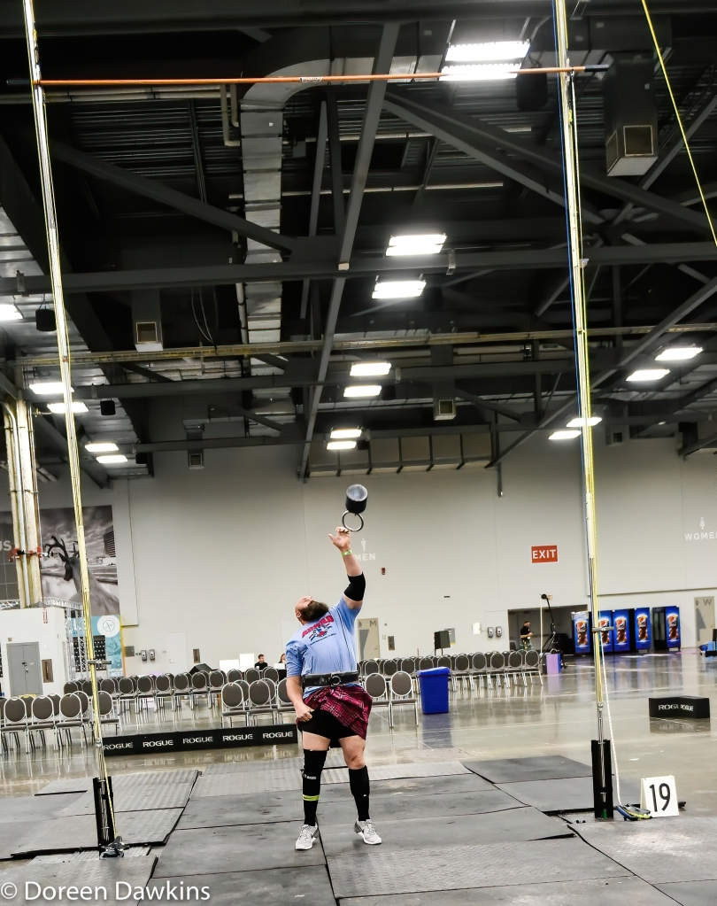 Weight over bar, Scottish Highland Games at the Arnold Sports Festival 2020