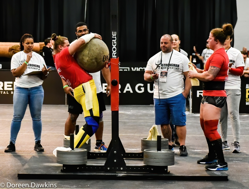 Pro Strongwoman second consecutive winner Olga Liashchuk (Stone) at the Arnold Sports Festival 2020