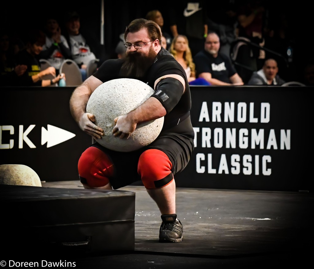 Pro Strongman Bobby Thompson (Trial by Stone event), Arnold Sports Festival 2020