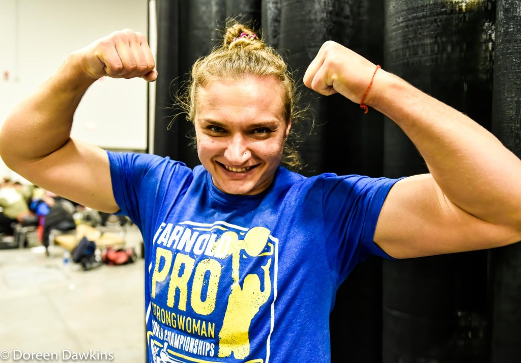 Pro Strongwoman second consecutive winner Olga Liashchuk at the Arnold Sports Festival 2020.