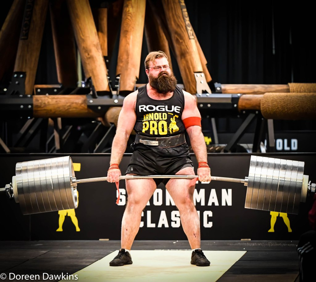 Pro Strongman Bobby Thompson, Arnold Sports Festival 2020: Arnold Strongman Classic: Elephant Bar Deadlift