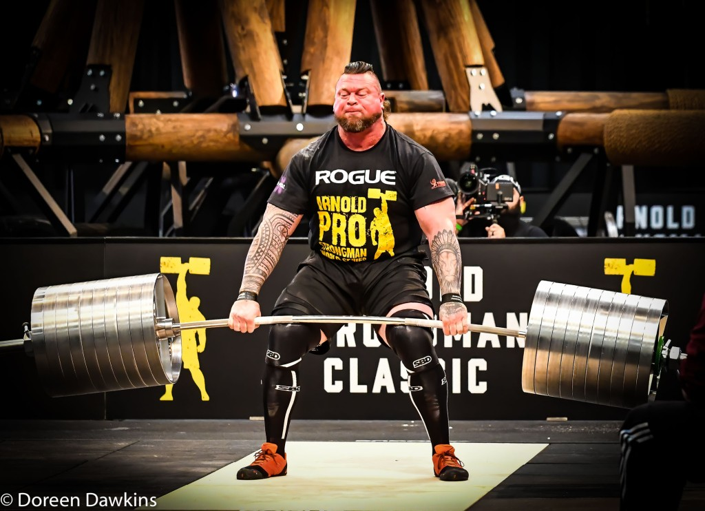 Pro Strongman Jerry Pritchett at the Arnold Sports Festival 2020: Arnold Strongman Classic 2020: Elephant Bar Deadlift