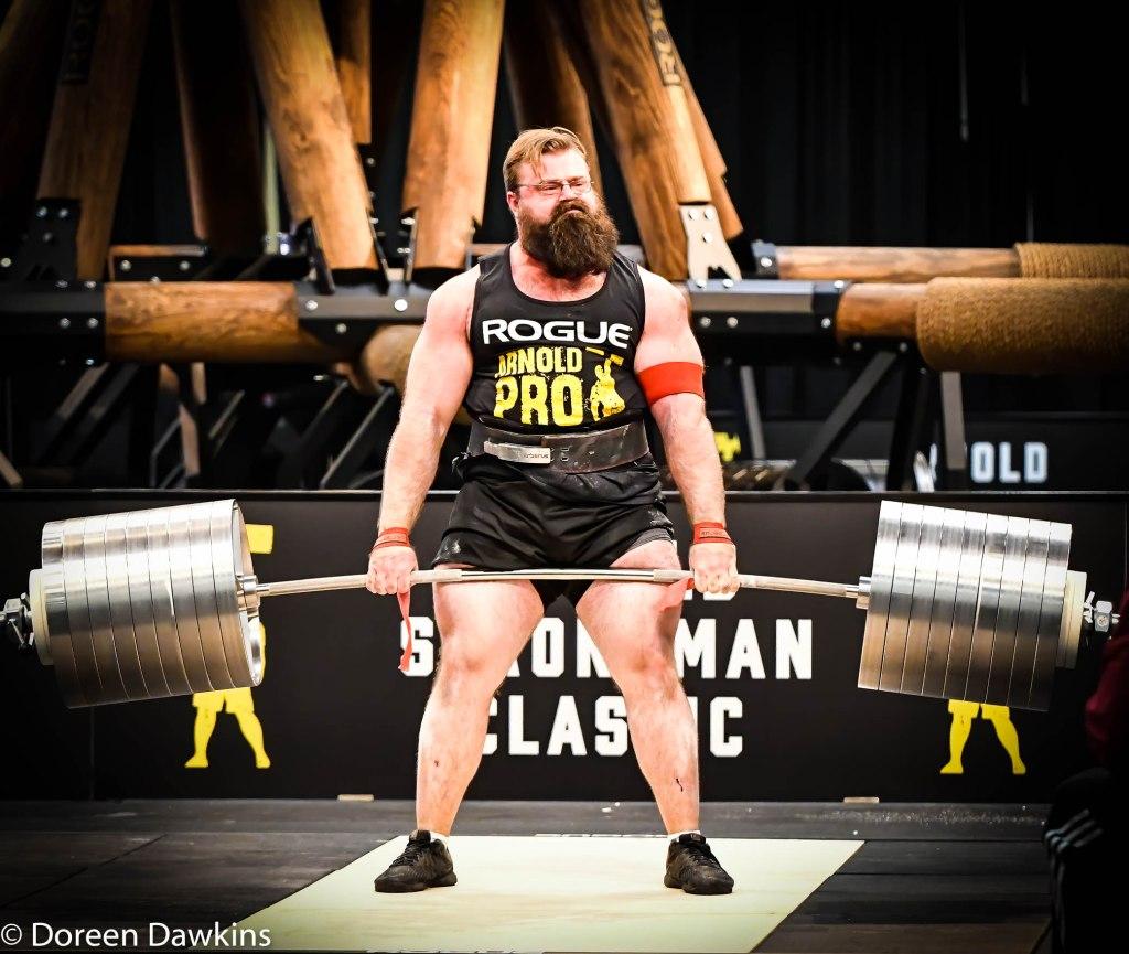Pro Strongman Bobby Thompson (Rogue Elephant Bar Deadlift), Arnold Sports Festival 2020