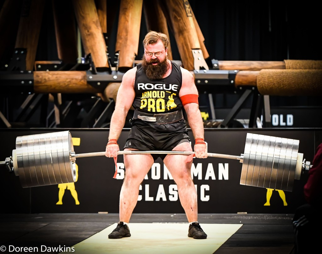 Pro Strongman Bobby Thompson (Rogue Elephant Bar Deadlift), Arnold Sports Festival 2020