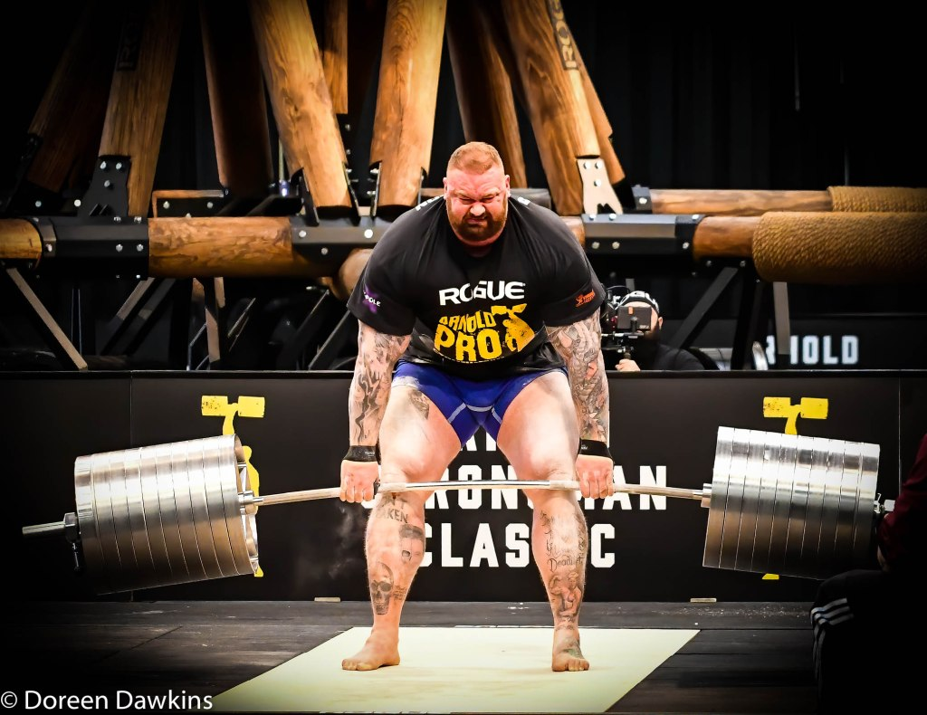 Pro Strongman Hafthor Bjornsson, at the Arnold Sports Festival 2020: Arnold Strongman Classic 2020: Elephant Bar Deadlift