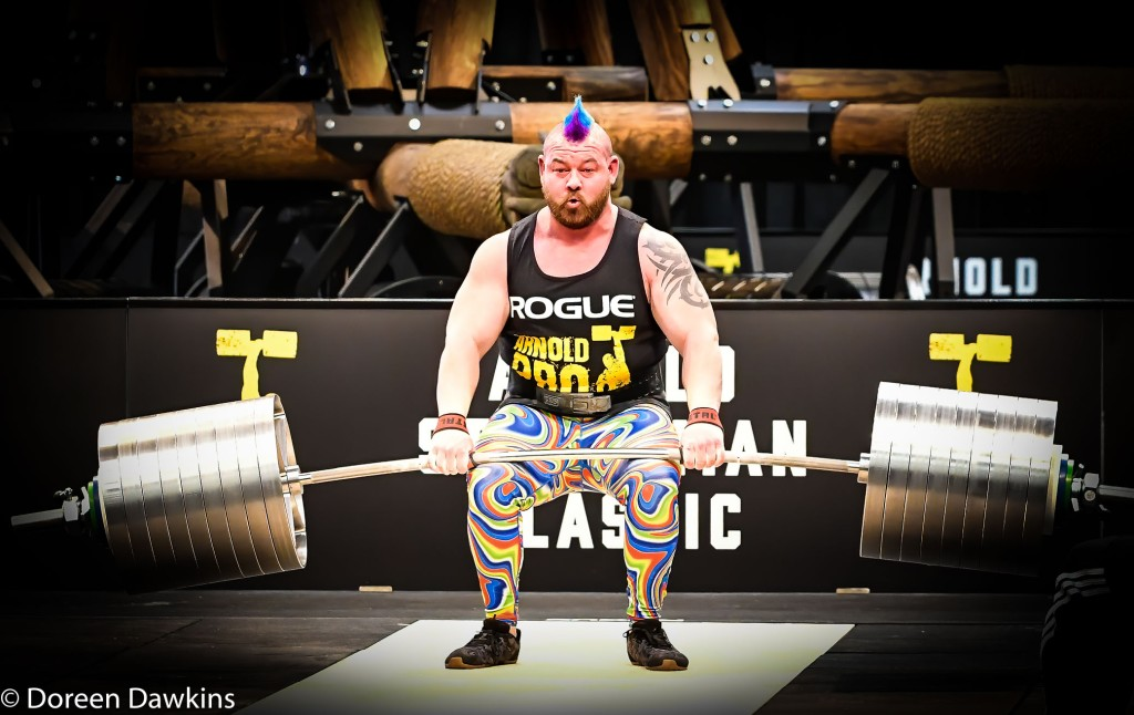 Pro Strongman Rob Kearney, at the Arnold Sports Festival 2020: Arnold Strongman Classic Elephant bar deadlift