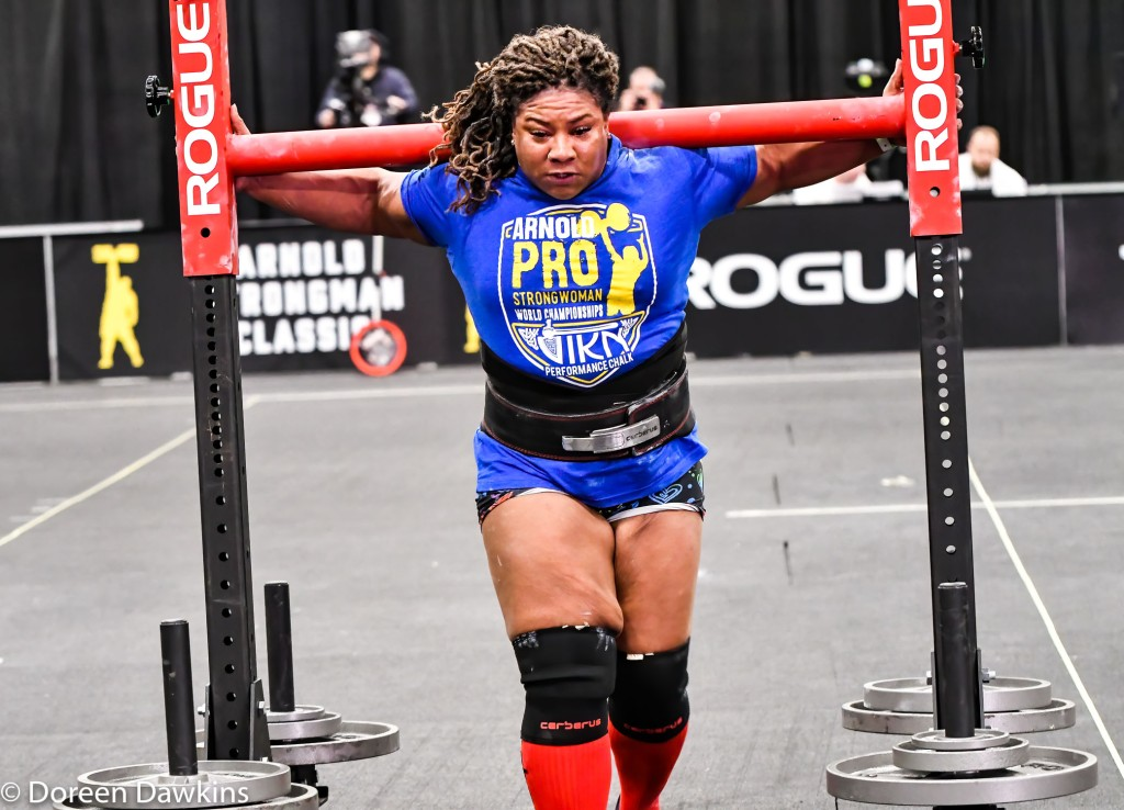 Pro Strongwoman Andrea Thompson Yoke Walk, Arnold Sports Festival 2020