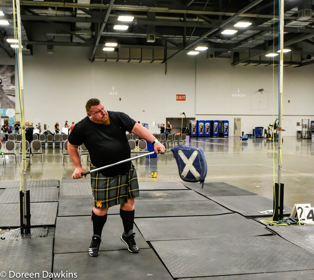 Jeffrey Duer (Shear toss), Scottish Highland Games at the Arnold Sports Festival 2020
