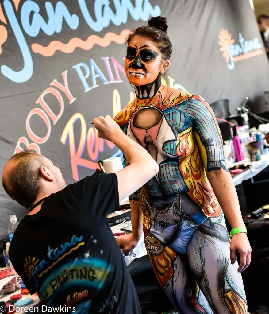 Body paint competition at the Arnold Sports Festival 2020