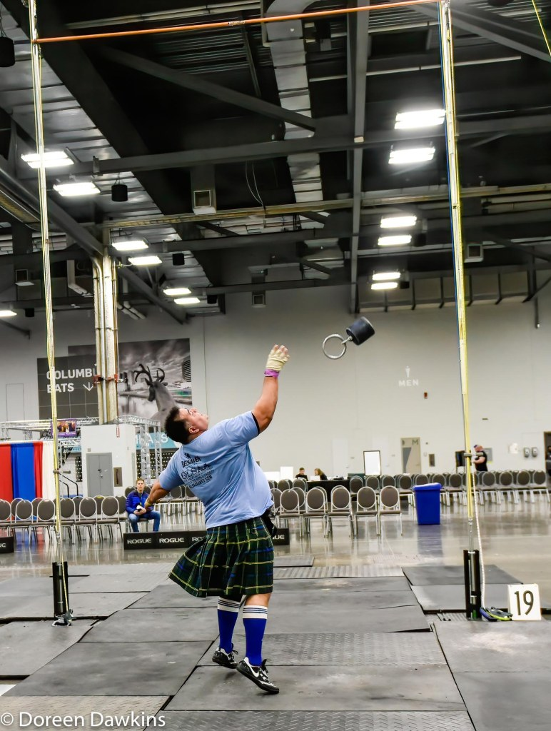 (Weight over bar), Scottish Highland Games at the Arnold Sports Festival 2020