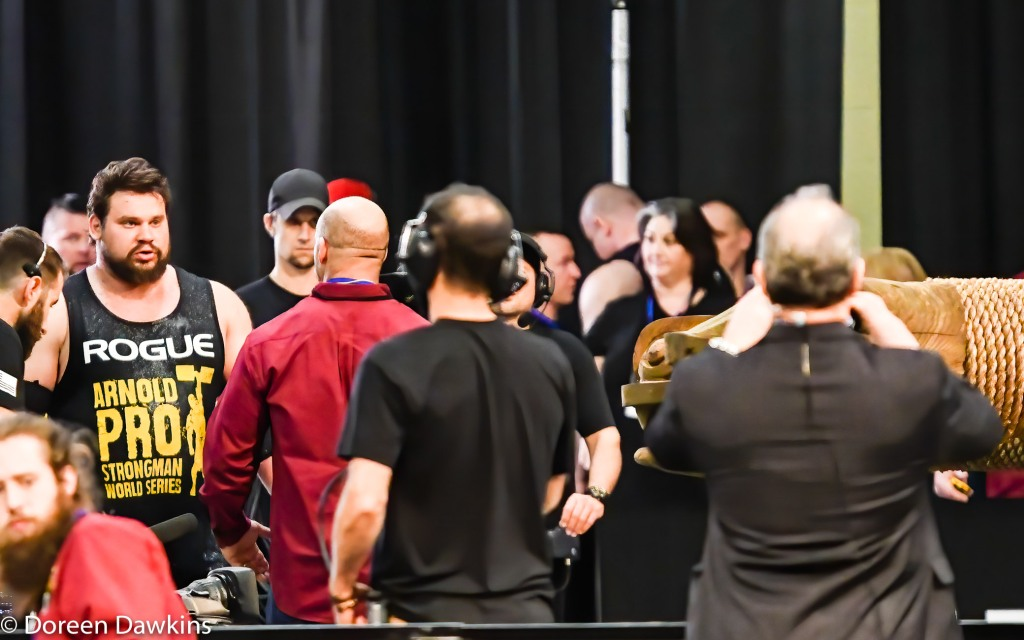 Third place Strongman Martins Licis (Wheel of pain) at the Arnold Sports Festival 2020