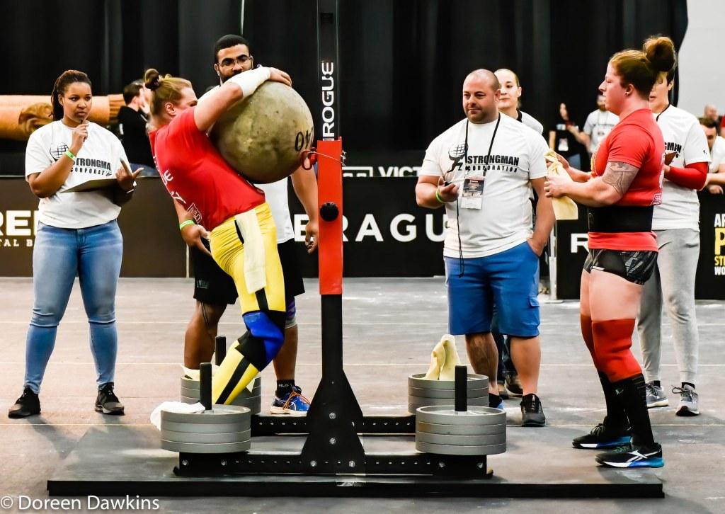 Pro Strongwoman second consecutive winner Olga Liashchuk (Stone) at the Arnold Sports Festival 2020