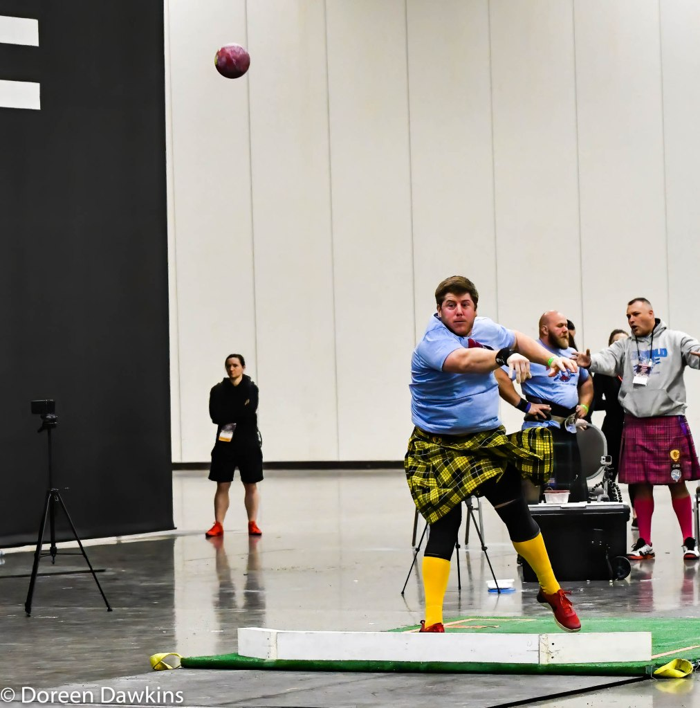 Shot put, Scottish Highland Games at the Arnold Sports Festival 2020