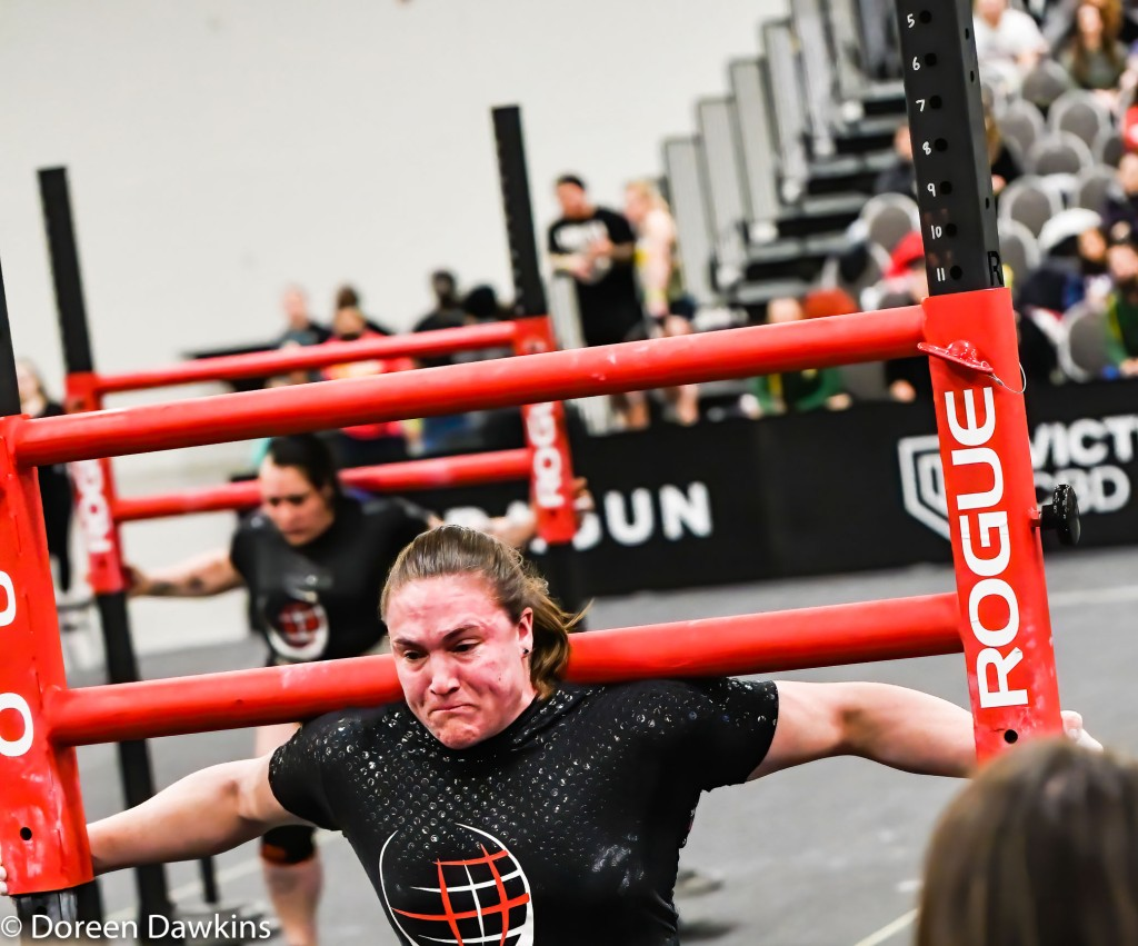 Strongwoman Hannah Linzay competing (Yoke walk) in the Amateur Strongwoman event, Arnold Sports Festival 2020