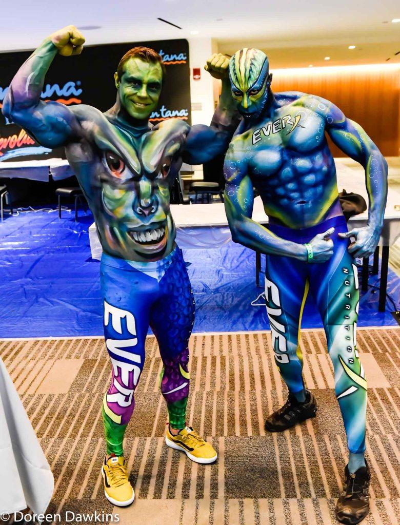 Body Paint Exhibit participants at the Arnold Sports Festival 2020