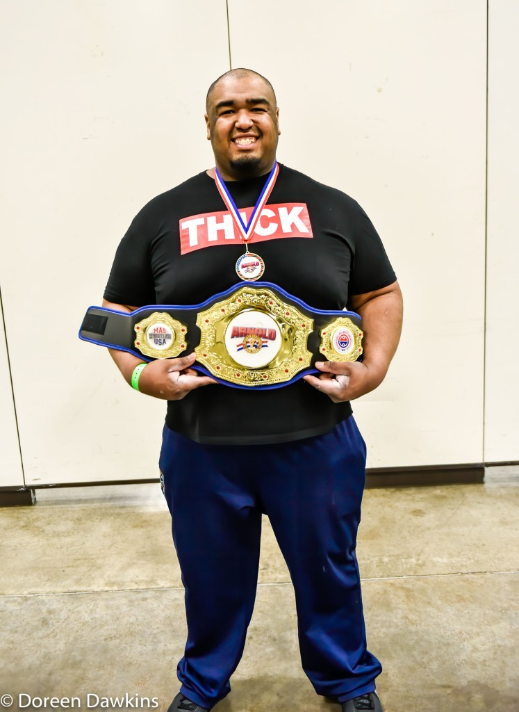 "MAS Wrestling Heavyweight champion Ulice Payne, ""to the victory go the spoils"",  at the Arnold Sports Festival 2020"