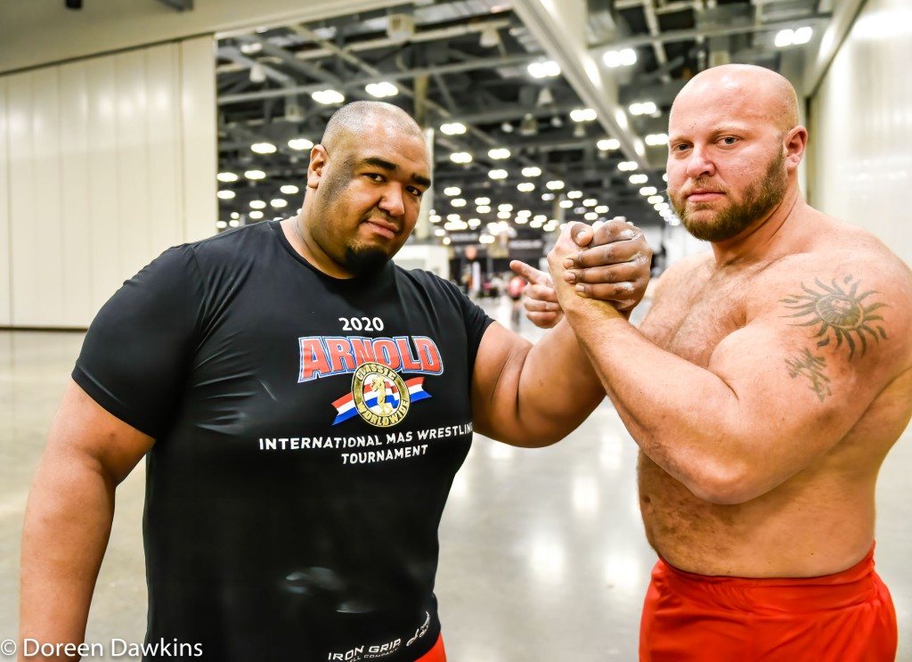 MAS Wrestler Heavyweight Champion Ulice Payne and training partner Mike Stroozas, Arnold Sports Festival 2020