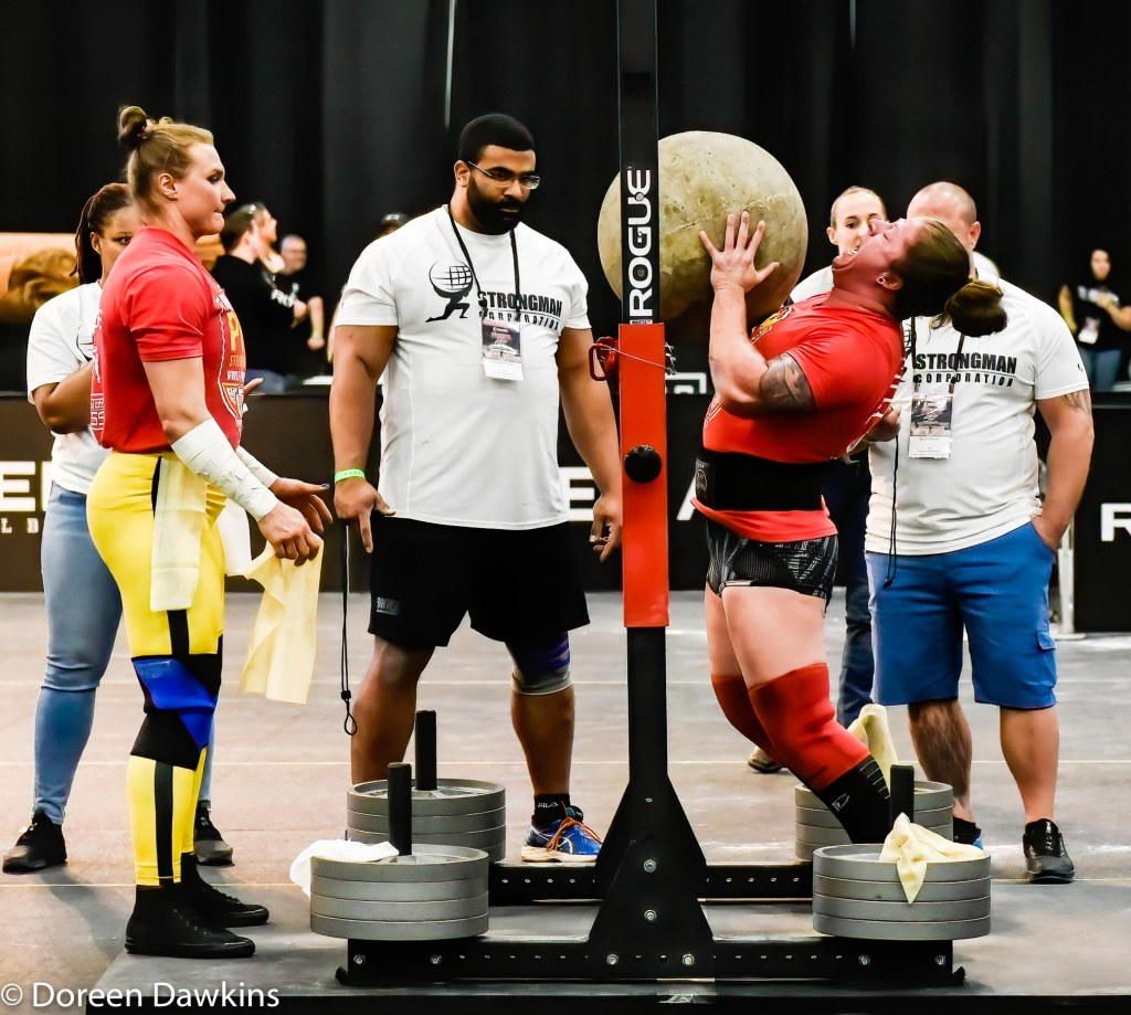 "Pro Strongwoman Danielle ""Dani"" Vaji (Stone) at the Arnold Sports Festival 2020"