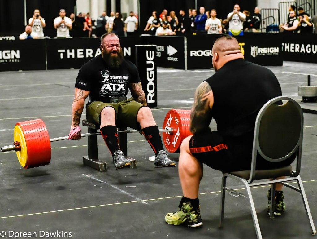 Disabled Strongman World Record Seated Deadlift holder (550 kilos) Martin Tye, Arnold Sports Festival 2020