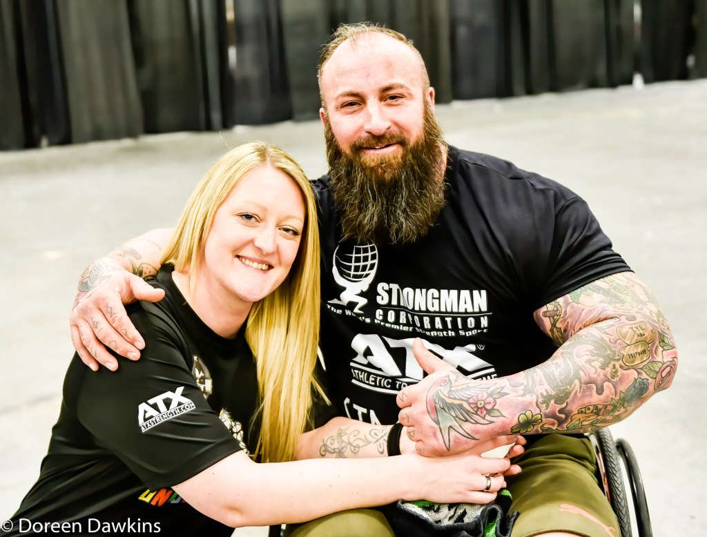 Disabled Strongman World Record Seated Deadlift holder Martin Tye hanging out at the Arnold Sports Festival 2020
