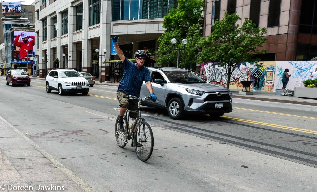 Showing support while riding a bicycle, COVID-19 Break: Black Lives Matter Other Ways to Protest