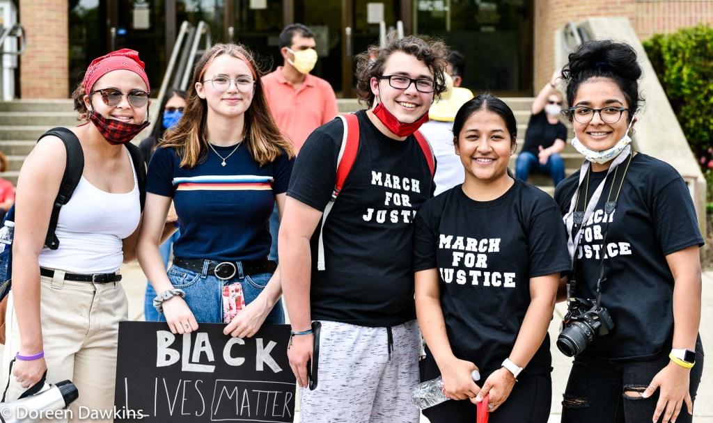 Protest Organizers (Olivia Spratt, Elaynes Duchesne, Parker Guttmen, Dipisha Kckhatri and Dilasa Adhikari), COVID-19 Break: Black Lives Matter Protest- Reynoldsburg