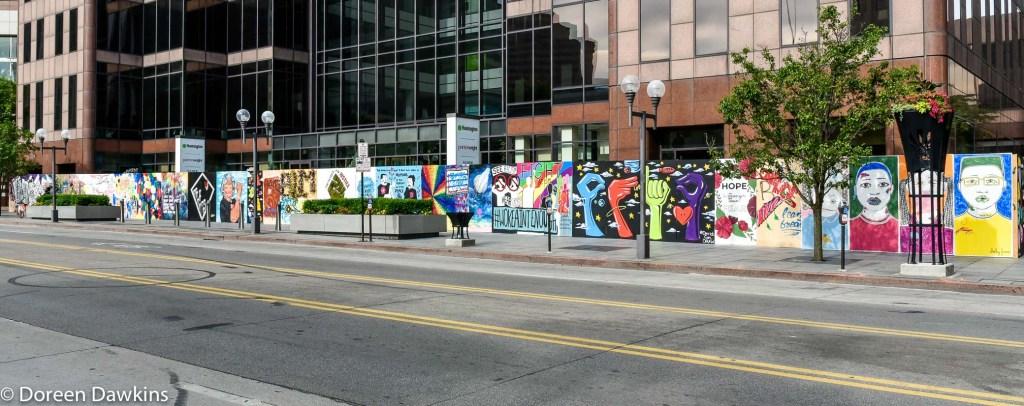Downtown Columbus Property Damage turned to Art: Huntington Center, #ArtUnitesCbus, COVID-19 Break: Downtown Columbus Property Damage turned to Art: Huntington Center, #ArtUnitesCbus, #board41