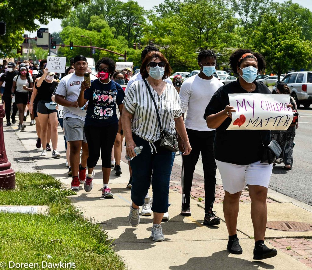 "The march, ""My Children Matter""… Black Lives Matter Protest- Reynoldsburg, COVID-19 Break: Black Lives Matter Protest- Reynoldsburg"