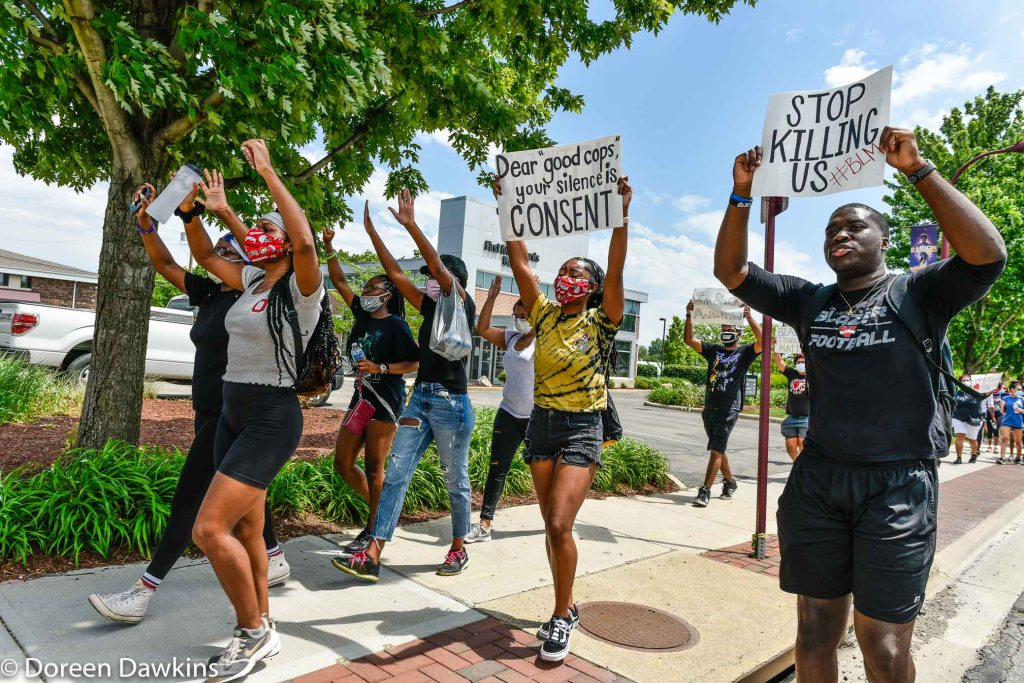 "The march, ""Stop Killing Us #BLM"",  … Black Lives Matter Protest- Reynoldsburg, COVID-19 Break: Black Lives Matter Protest- Reynoldsburg"