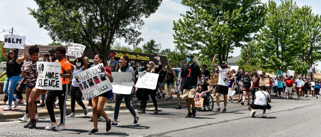 "The march: ""Hands Up Don't Shoot"",  … Black Lives Matter Protest- Reynoldsburg, COVID-19 Break: Black Lives Matter Protest- Reynoldsburg"