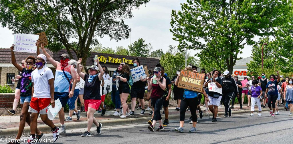 "The march: ""No Justice No Peace"",  … Black Lives Matter Protest- Reynoldsburg, COVID-19 Break: Black Lives Matter Protest- Reynoldsburg"
