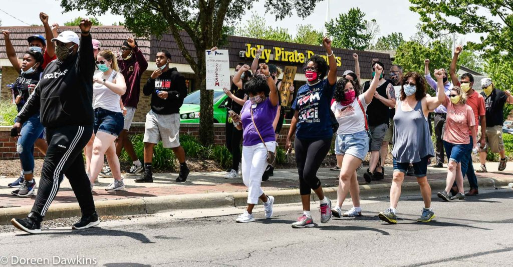 "The march: ""Fist Up"",  … Black Lives Matter Protest- Reynoldsburg, COVID-19 Break: Black Lives Matter Protest- Reynoldsburg"