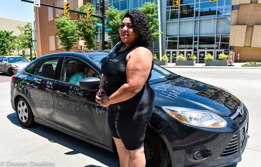 """Charma Perez and her """"protest car"""", COVID-19 Break: Black Lives Matter Other Ways to Protest"""