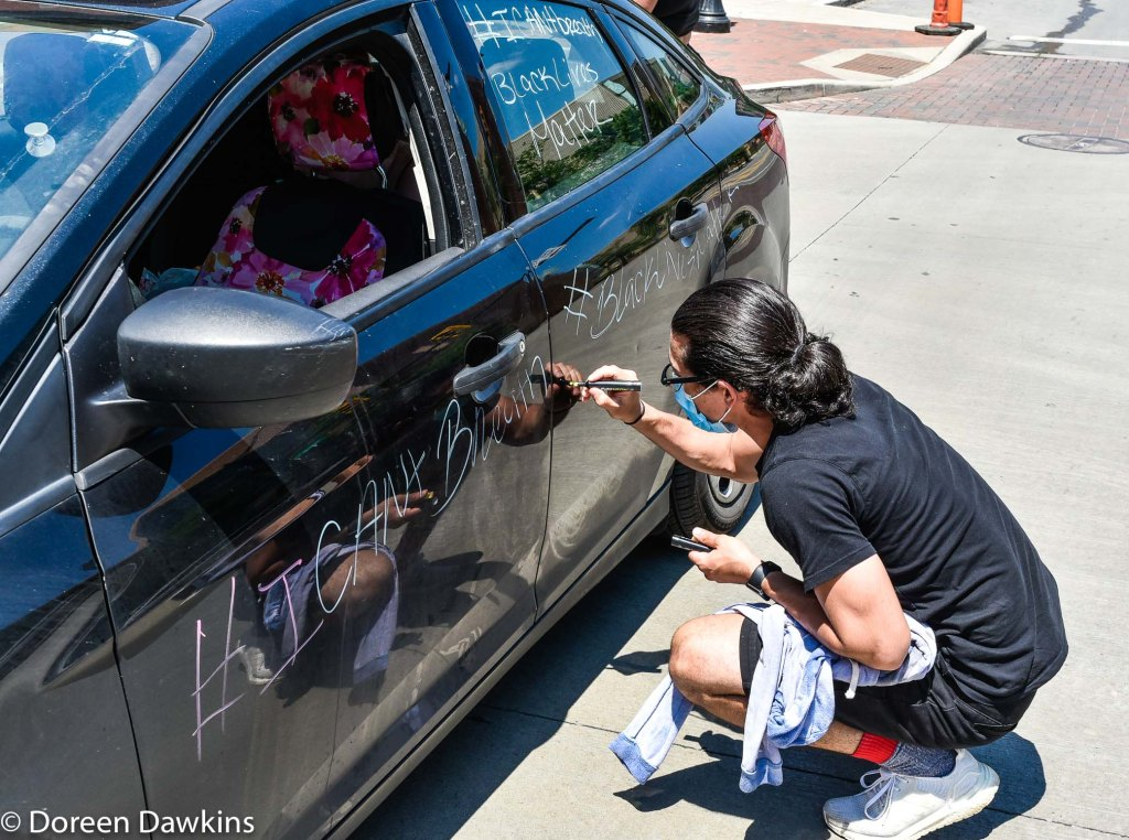"""Signing Charma Perez's """"protest car"""", COVID-19 Break: Black Lives Matter Other Ways to Protest"""