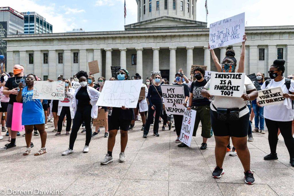 The Ohio Statehouse protest, COVID-19 Break: Black Lives Matter Protest- Columbus