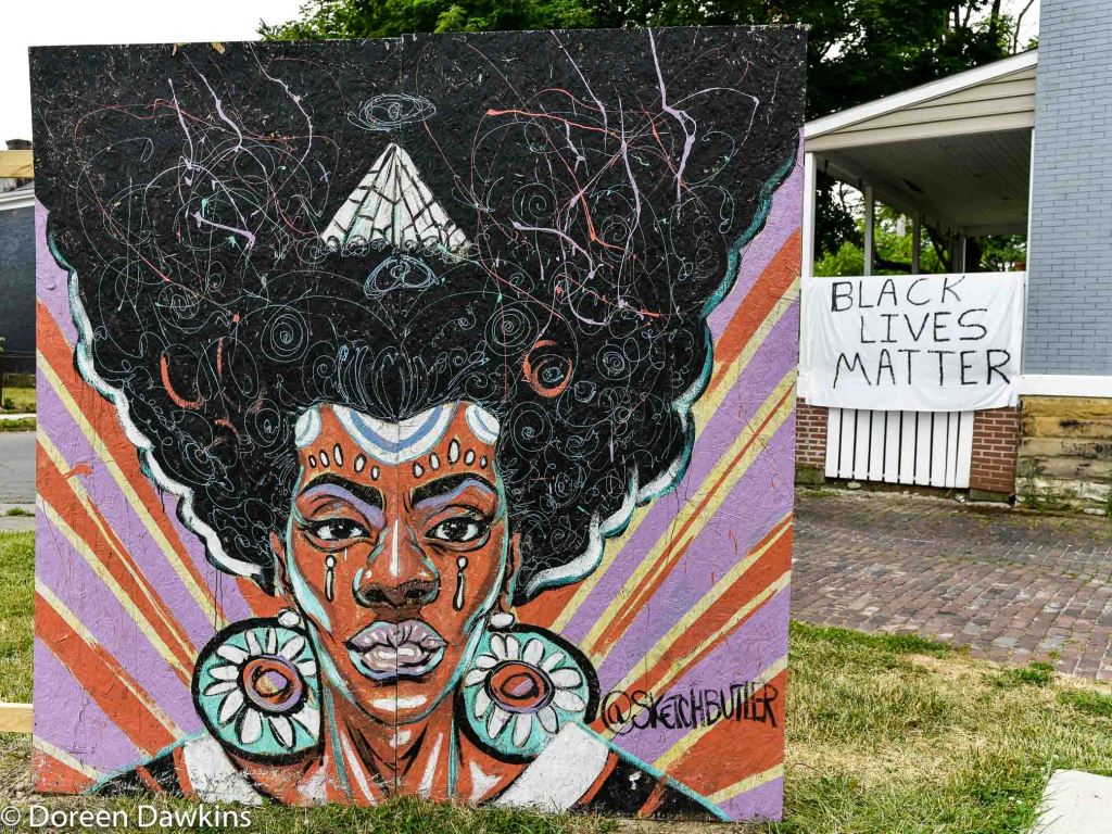 Black Lives Matter, COVID-19 Break: Bronzeville Art on the Park