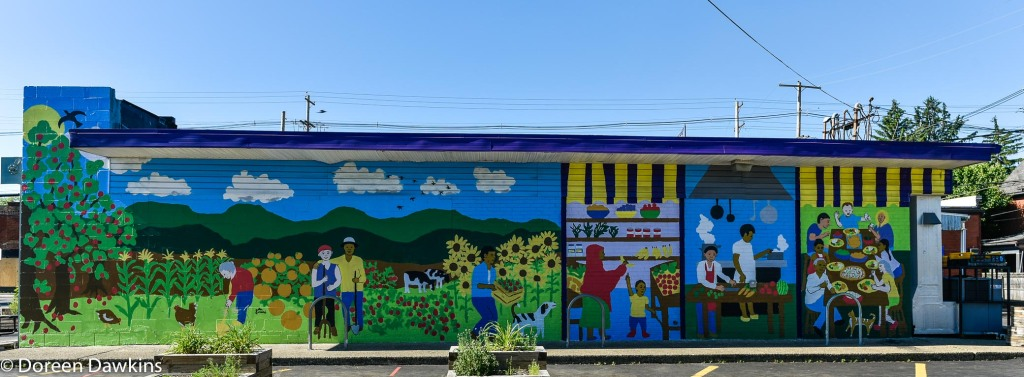 Mural designed by John Sunami, COVID-19 Break: All People Fresh Market