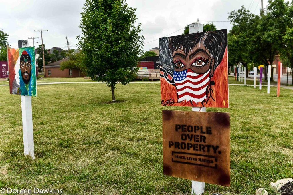 """People over Poverty"",  COVID-19 Break: Bronzeville Art on the Park"